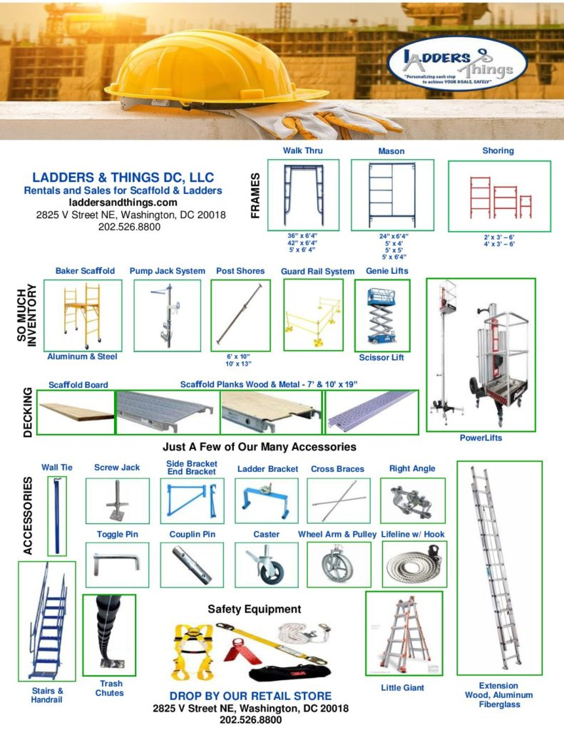 Rental and Sales for Scaffold and Ladders